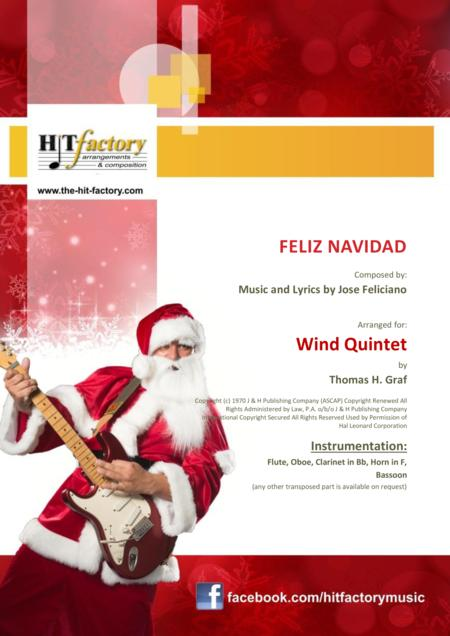 Feliz Navidad - Christmas Classic - Wind Quintet