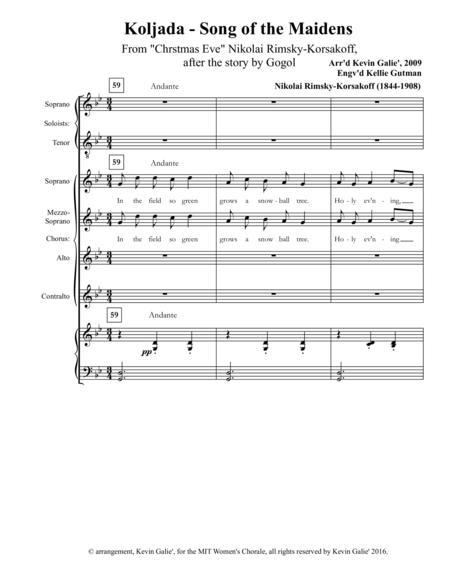 Koljada - Christmas Dance of the Russian Maidens Rimsky-Korsakov (Galiè) SSAA