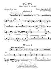 Sonata for Alto Saxophone, Op. 29 - Eb Alto Saxophone 2