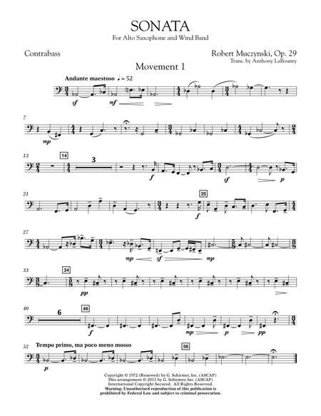 Sonata for Alto Saxophone, Op. 29 - Contrabass