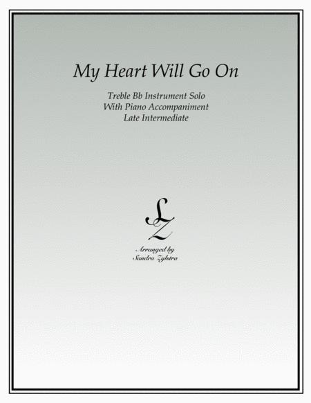 My Heart Will Go On (treble Bb instrument solo)