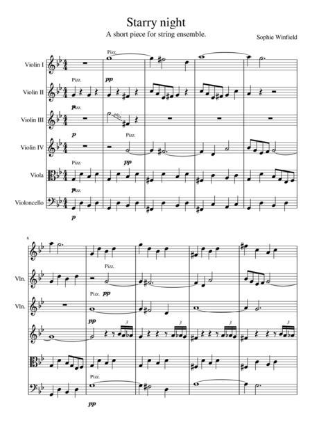 Starry night - for string ensemble