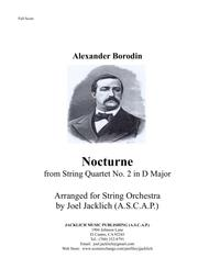 Nocturne from Borodin's String Quartet No. 2 arranged for String Orchestra