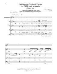 five german christmas carols for satb acappella