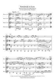 Queen: Somebody to Love - horn quartet