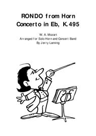 RONDO from Horn Concerto K.495, Solo Horn and Concert Band