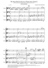My Heart Will Go On (Love Theme from Titanic) for Viola Quartet