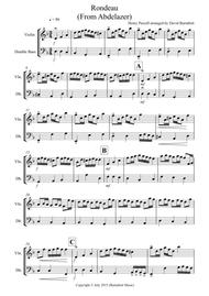 Rondeau (from Abdelazer) for Violin and Double Bass Duet