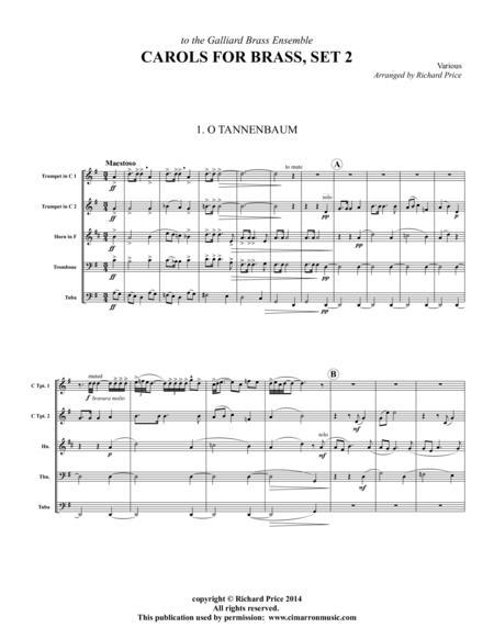 Carols for Brass, Set 2