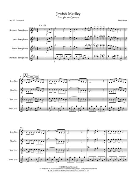 Jewish Medley: Saxophone Quartet