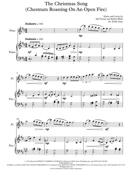 The Christmas Song (Chestnuts Roasting On An Open Fire) - Flute and Piano