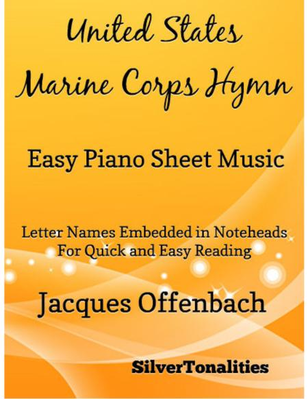 United States Marine Corps Hymn Easy Piano Sheet Music