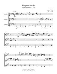 Sleepers Awake (Guitar Trio) - Score and Parts