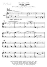 <Short EZ Piano #13 > Love Me Tender (Elvis Presley)
