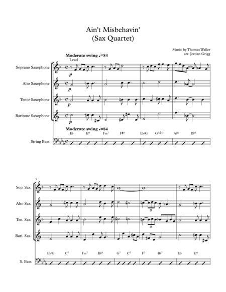 Ain't Misbehavin' (Sax Quartet)