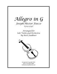 Fiocco - Allegro in G