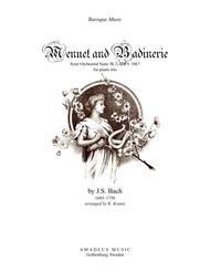 Menuet and Badinerie form Suite 2 (BWV 1067) for piano trio