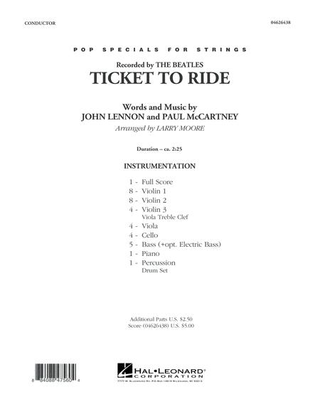 Ticket to Ride - Conductor Score (Full Score)