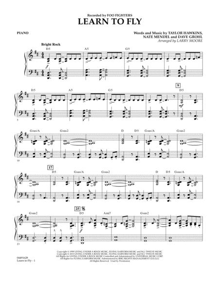 Learn to Fly - Piano