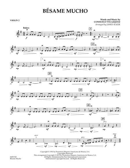 Besame Mucho - Violin 2