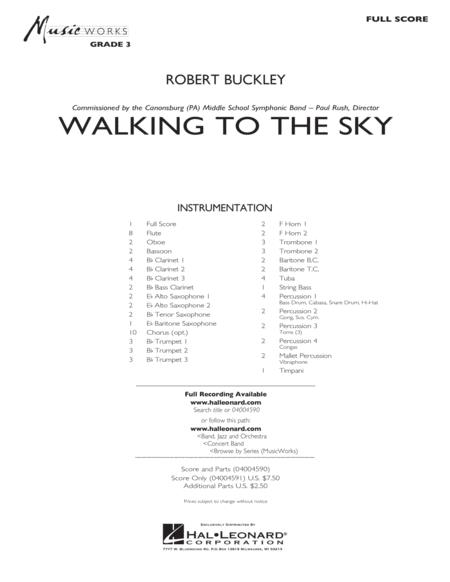 Walking to the Sky - Conductor Score (Full Score)