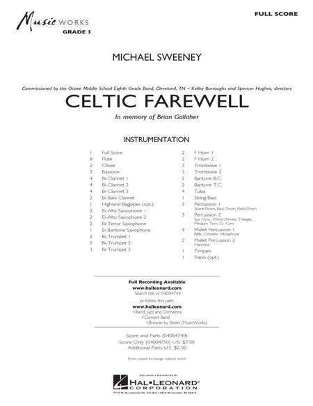 Celtic Farewell - Conductor Score (Full Score)