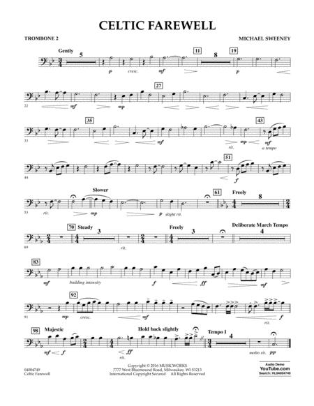 Celtic Farewell - Trombone 2