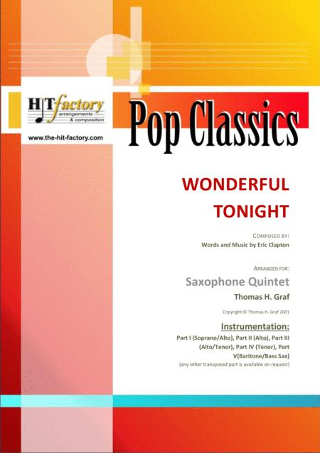 Wonderful Tonight - Eric Clapton - Saxophone Quintet