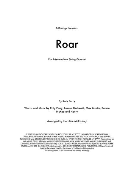 Roar - String Quartet