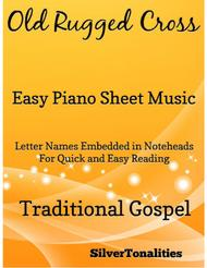 Old Rugged Cross Easy Piano Sheet Music