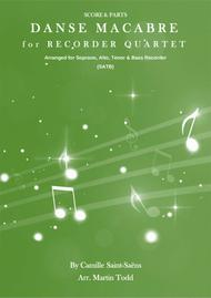 Danse Macabre for Recorder Quartet (SATB)