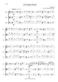 Coventry Carol for string trio (violin, viola, cello)