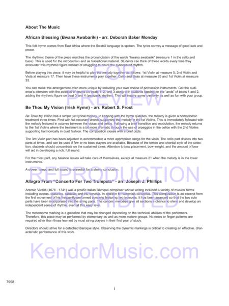 Preview Kendor Concert Favorites, Volume 2 - Full Score (KN 7998