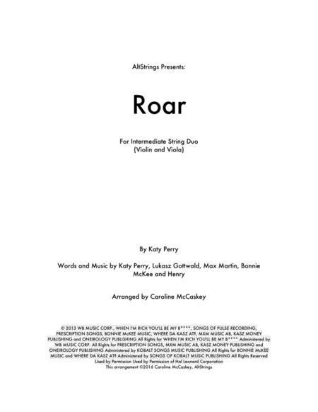 Roar - Violin and Viola Duet