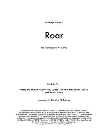 Roar - Viola Duet