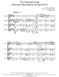 The Christmas Song (Chestnuts Roasting On An Open Fire) - 4 Violins