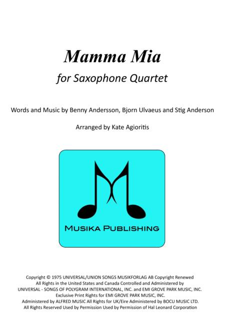 Mamma Mia - for Saxophone Quartet
