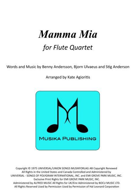 Mamma Mia - for Flute Quartet