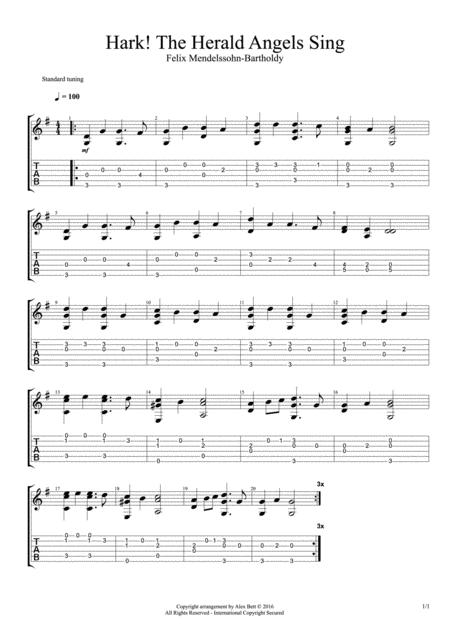 Hark! The Herald Angels Sing (Fingerstyle Guitar)