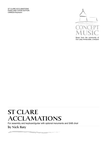 St Clare Acclamations