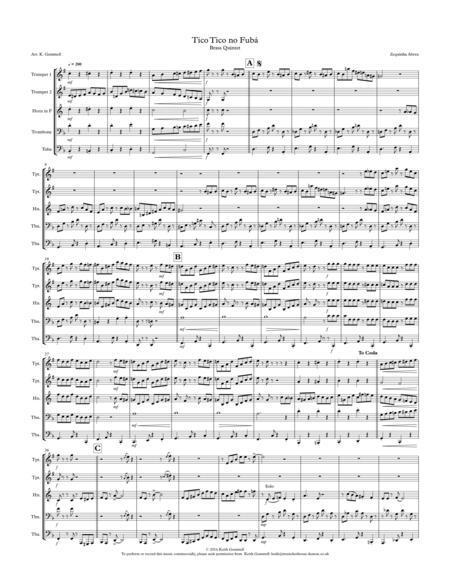 Tico Tico no Fuba: Brass Quintet