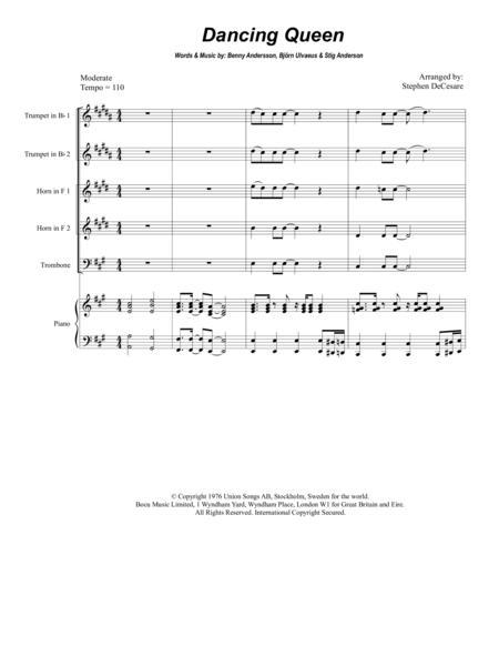 Dancing Queen (for Brass Quintet)