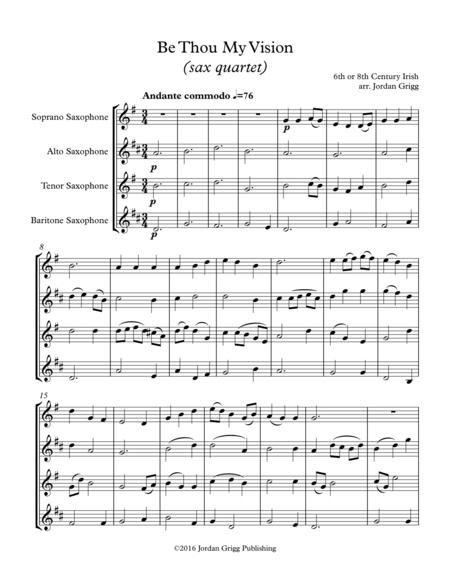 Be Thou My Vision (sax quartet)