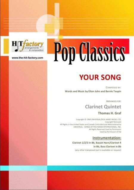 Your Song - Elton John - Clarinet Quintet