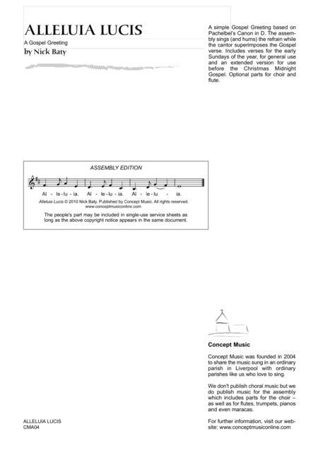 Alleluia Lucis (Gospel Greeting)