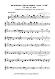 Let It Go (from Frozen) - Lead Sheet in C Key (With Chords)