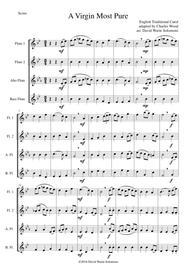 A Virgin Most Pure for flute quartet