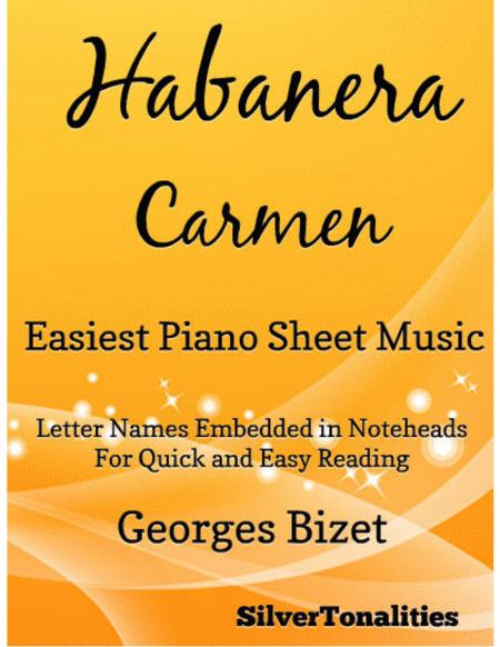 Habanera Carmen Easiest Piano Sheet Music