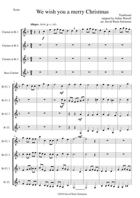 we wish you a merry christmas clarinet sheet music - Mersn.proforum.co