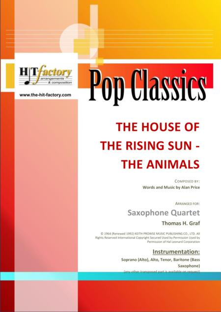 The house of the rising sun - The Animals - 1964 - Saxophone Quartet